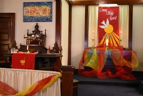 Pentecost Altar Richmond Congregational Church