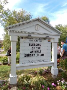 Blessing of the Animals Sign