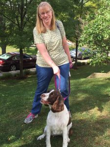 Jenn with Molly the Springer Spaniel