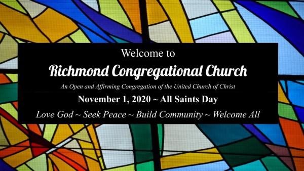 Sunday Worship 11.1.20