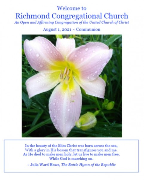8.1.21 Worship Bulletin