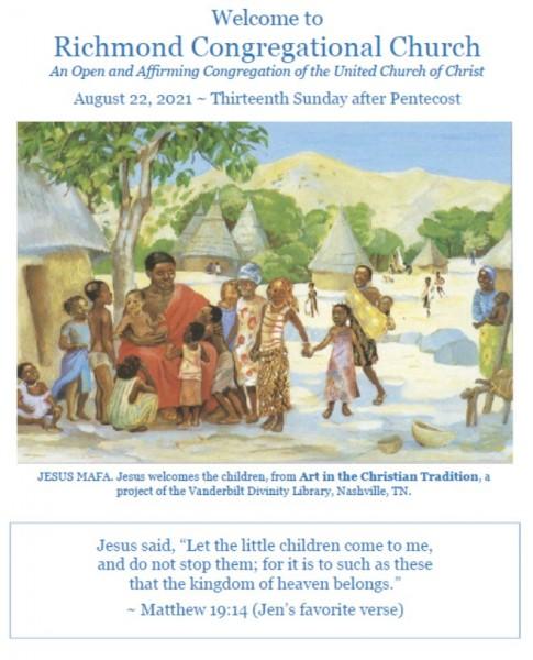 8.22.21 Worship Bulletin